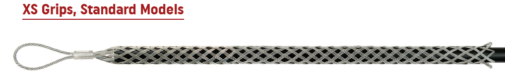 "Lewis X-Series Pulling Grips - Range 3/4"" - 1 1/4"", Work Load 2,000 lbs., Approx Breaking Strength 6,000 lbs., Mesh 24"", Eye 5"""