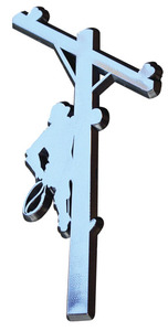 Climbing High Chrome Lineman Decal - 6