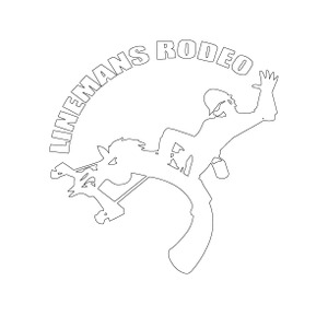 White Vinyl Linemans Decal - Lineman's Rodeo