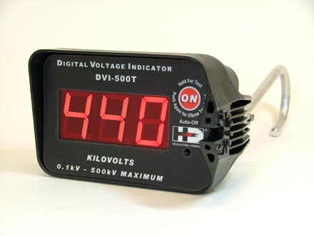 HD Electric DVI-500 (Digital Voltage Indicators) Indicates Voltage up to 500kV, Includes HP-DVI-2, HP-DVI-6 and CS-DVI-5 Case