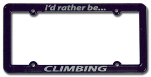 Black License Plate Frame (LPF1)