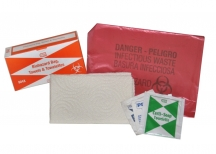 First Aid - Biohazard Bag & Towelettes - 6/Unit (904X) Case of 5